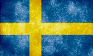 Swedish flag grunge 300x180
