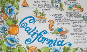 California stylised map 300x180
