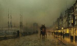 Grimshaw Saturday night Clyde Glasgow - Art Gallery ErgsArt - by ErgSap