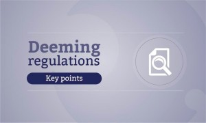 deeming regulations news package - key points 900x540