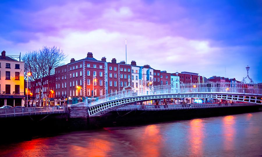 Dublin at dusk