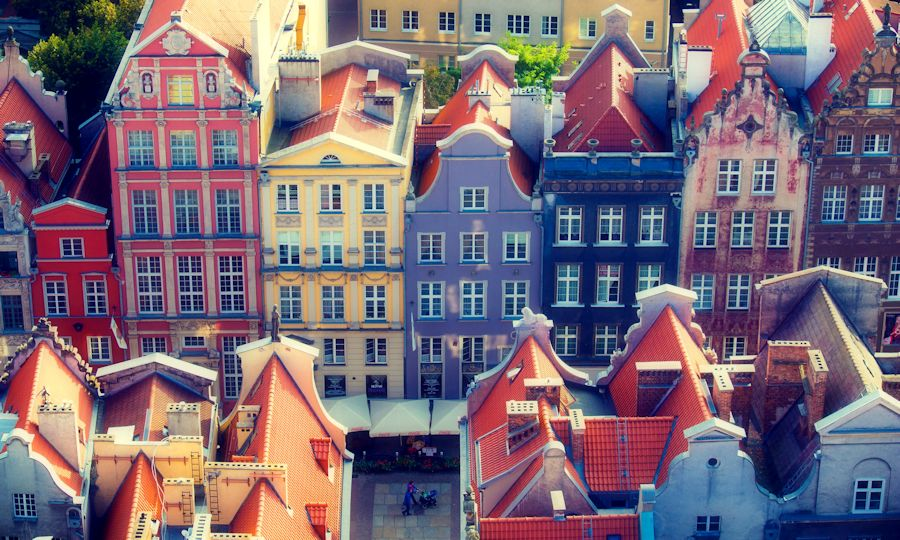 Rooftops in Gdansk, Poland