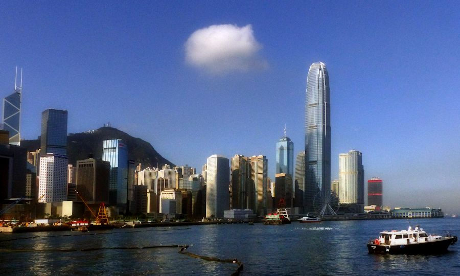 Hong Kong waterfront by Bernard Spragg