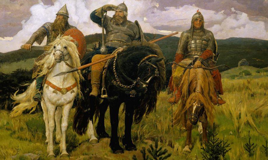 Bogatyrs, 1881 by Viktor Vasnetsov