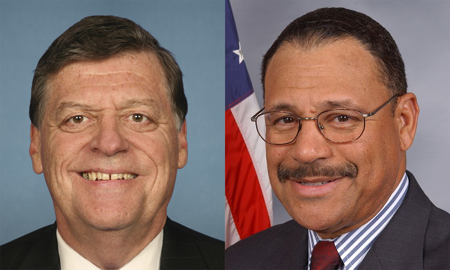 U.S. Reps Tom Cole (left) and Sanford Bishop