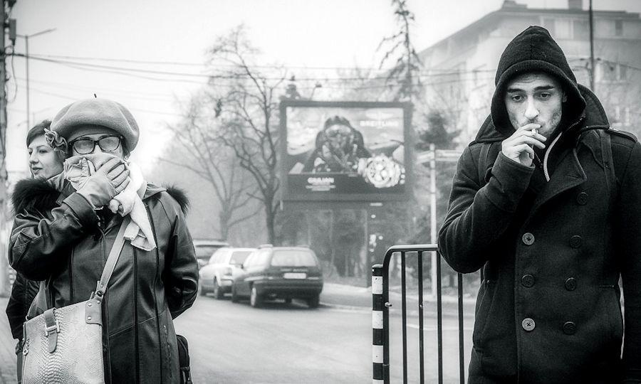 Smoking in Sofia, Bulgaria