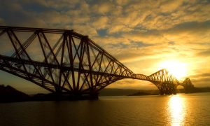 Historic Forth Rail Bridge, Edinburgh, Scotland