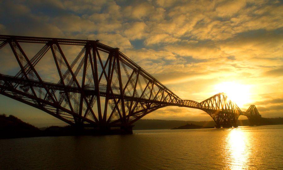 Historic Forth Rail Bridge, Edinburgh, Scotland