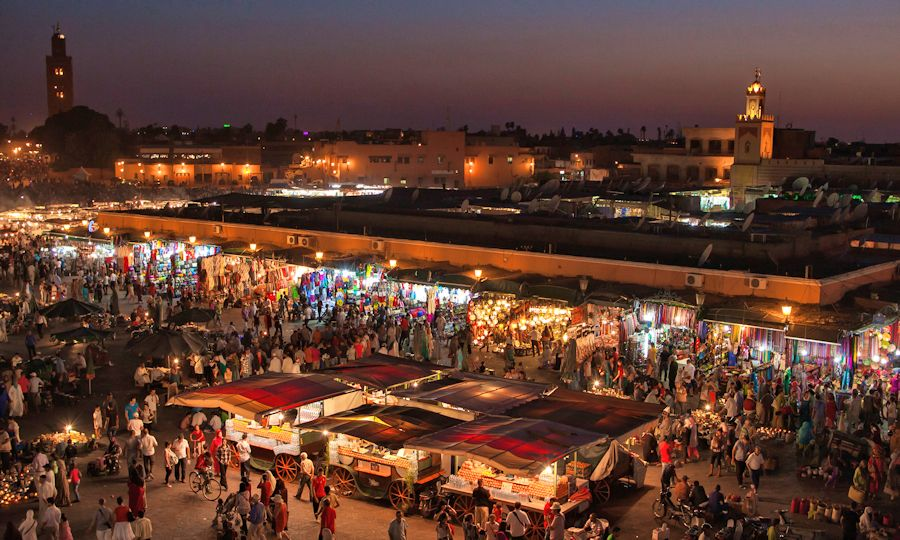 The Jemaa El-Fnaa, Marrakech