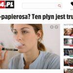 Shock horror headlines on a Polish newspaper website