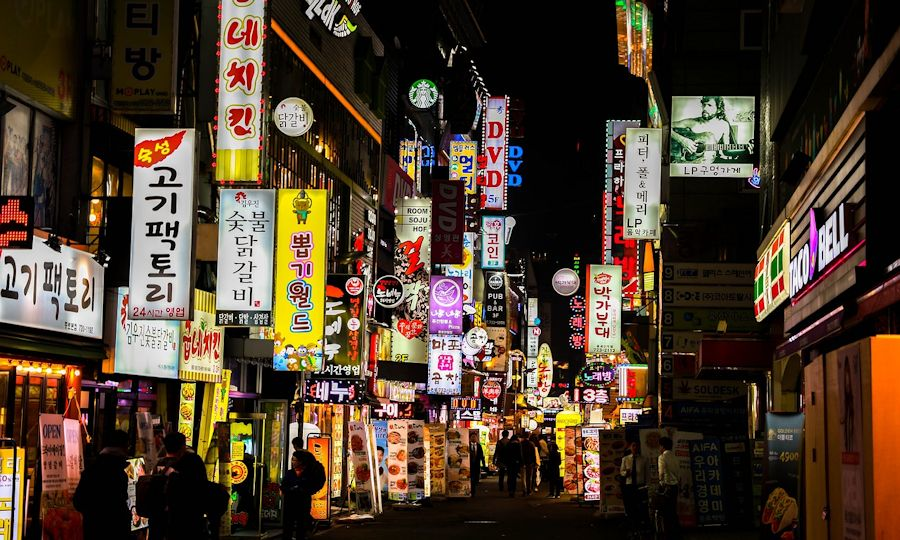 Nightlife in Seoul, South Korea